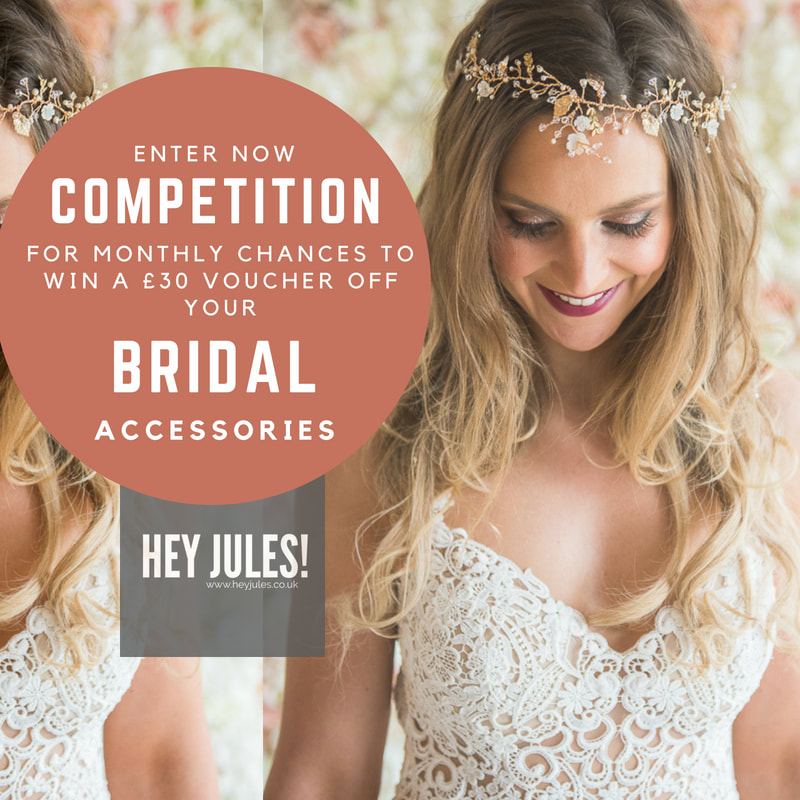 Enter our competition to win £150 headpiece or £30 bridal accessories