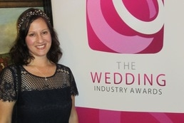 Jules at the Wedding Industry awards