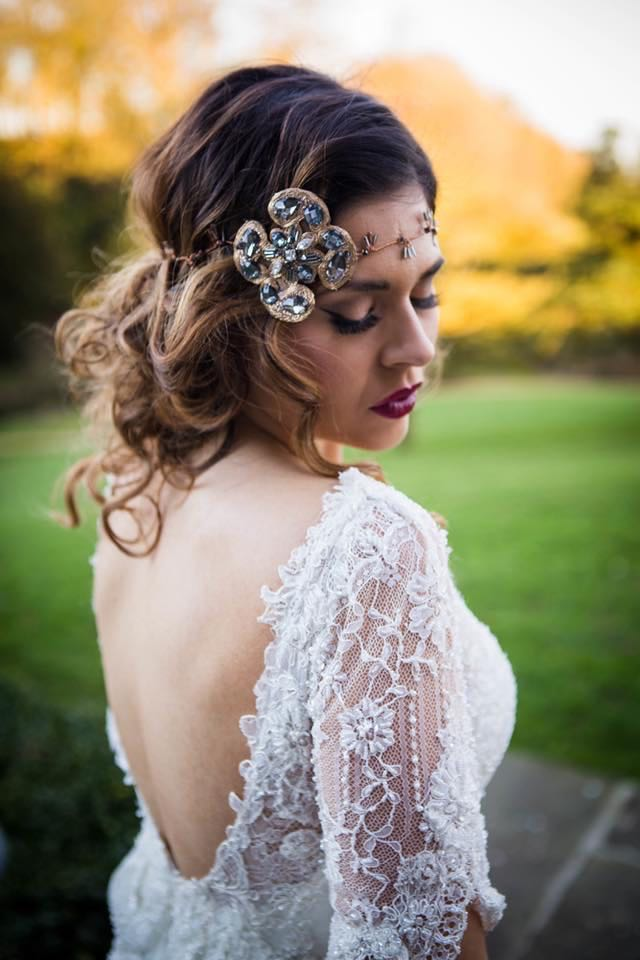 Gatsby style headpiece by Hey Jules!