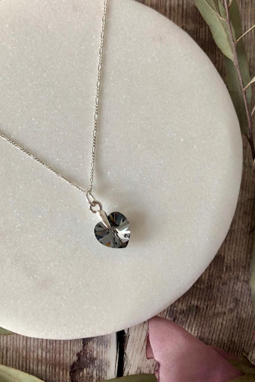b1d936b51 Love Swarovski heart Crystal Night necklace